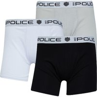 883 Police Mens Manno Three Pack Boxers White/Black/Grey