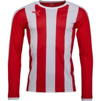 Puma Mens Stripe Long Sleeve Match Jersey Puma Red/Puma White