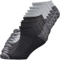 Pro Player Mens Ten Pack Cushioned No Show Socks Grey
