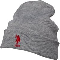 U.S. POLO ASSN. Mens Willow Beanie Grey Marl