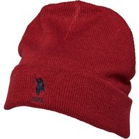 U.S. POLO ASSN. Mens Willow Beanie Tibetan Red
