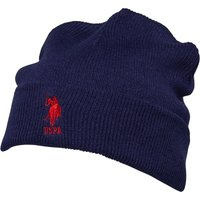 U.S. POLO ASSN. Mens Willow Beanie Medieval Blue