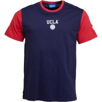 UCLA Mens Norman Contrast Raglan T-Shirt Peacoat