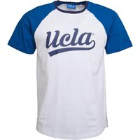 UCLA Mens Edger Contrast Raglan T-Shirt Bright White