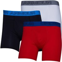 Under Armour Mens Charged Cotton Stretch Boxerjock Three Pack Boxers Black
