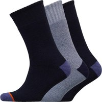 WEATHERPROOF Mens Three Pack Thermal Crew Socks Navy