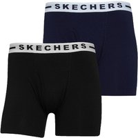 SKECHERS Mens Cambridge Two Pack Boxers Black/Navy