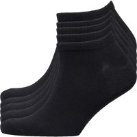 SKECHERS Mens Utah Five Pack No Show Trainer Liner Socks Black