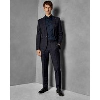 Check Slim Fit Wool Trousers