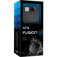 GoPro Fusion Action Camcorder, 360 Recording, 5.2K Resolution, Wi-Fi, Bluetooth, Waterproof, GPS