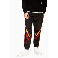 Mens Multi Navy And Burgundy Shell Bottoms, Multi