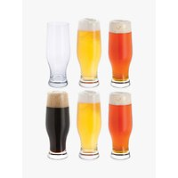 Dartington Crystal Beer Party Pack Glasses, Set of 6, 500ml, Clear