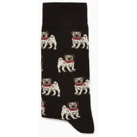 Mens Black Pug Socks, Black
