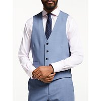 John Lewis & Partners Tailored Waistcoat, Airforce Blue
