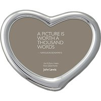 John Lewis & Partners Heart Photo Frame, Silver Plated, 4 x 6 (10 x 15cm)