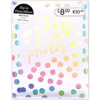 White Iridescent 72 Pocket Photo Album - 7x5 Photos