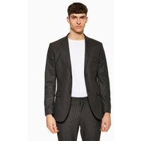 Mens Black Pinstripe Slim Blazer, Black