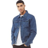Fluid Mens Denim Jacket Mid Wash