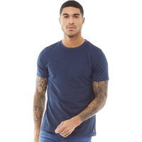 Fluid Mens Plain T-Shirt Navy