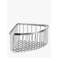 John Lewis & Partners Stainless Steel Deep Corner Shower Basket, Silver
