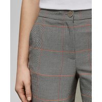 Embroidered Checked Trousers