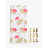 John Lewis & Partners Flamingo Palm Leaf Tissue Paper & Stickers