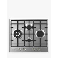 Hoover HHW6D5WMX Gas Hob, Stainless Steel