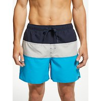 adidas Colour Block Swim Shorts, Legend Ink/Grey Two/Shock Cyan