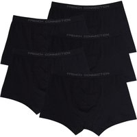 French Connection Mens Plus Size Five Pack FC Boxers Black/Black/Black/Black/Black