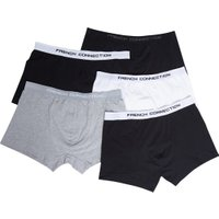 French Connection Mens Plus Size Five Pack FC Boxers Black/Black/Black/Grey/White