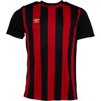 Umbro Mens Capital Stripe Short Sleeve Match Jersey High Risk Red/Black