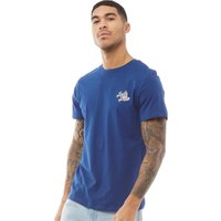 JACK AND JONES Mens Originals Five T-Shirt Crew Neck Estate Blue