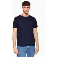 Mens Navy Ringer T-Shirt, Navy