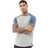 Fluid Mens Raglan Sleeve T-Shirt Grey Marl/Indigo Marl