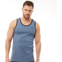 Kangaroo Poo Mens Vest With Chest Print Indigo/Navy