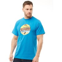 Kangaroo Poo Mens California Print T-Shirt Blue