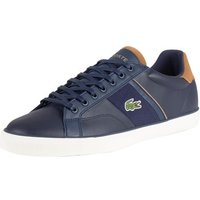 Lacoste  Men's Fairlead 119 1 CMA Leather Trainers, Blue  men's Shoes (Trainers) in Blue