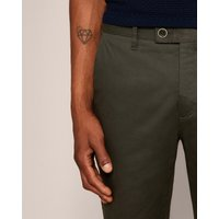 Piece-dyed Cotton Trousers