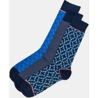 Geo Print Three Pack Cotton Sock Set