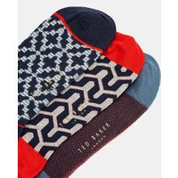 Geo Print Three Pack Cotton Socks