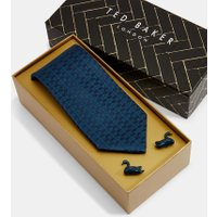 Swan Tie And Cufflink Set