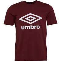 Umbro Mens Active Style Logo T-Shirt Port/White