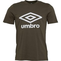 Umbro Mens Active Style Logo T-Shirt Olive Night/White