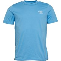 Umbro Mens Active Style Small Logo T-Shirt Cadet Blue/White
