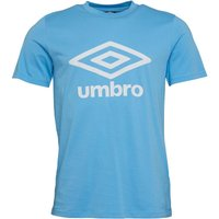 Umbro Mens Active Style Logo T-Shirt Cadet Blue/White