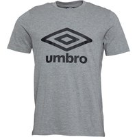 Umbro Mens Active Style Logo T-Shirt Grey Marl/Black