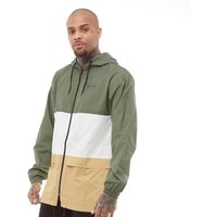 NICCE Mens Triple Panel Festival Jacket Khaki/White/Warm Sand