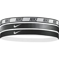 Nike Elastic Headband, Pack of 3, Black/White