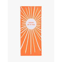 John Lewis & Partners Sunshine Deckchair Sling, Orange