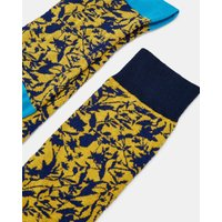 Cotton Leaf Print Socks